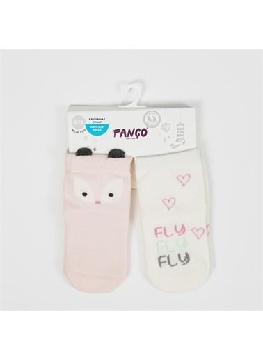 Panço 0-3 Yaş Kız 2 li Çorap 2012GB11008 Renksiz